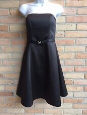 David's Bridal Black Belted Strapless Formal A-Line Dress - sz 2 - never worn!