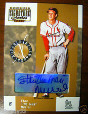 "Stan ""The Man"" Musial Nicknames Auto #15/100 2003 Donruss Signature Series"
