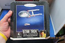 30 YR 2pc set DIECAST METAL Star Trek STARSHIP ENTERPRISE Hallmark Keepsake 1996