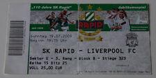 OLD TICKET Rapid Wien Austria - FC Liverpool England
