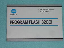 Manual de instrucciones-operating instructions-Minolta Flash 3200 I English-France
