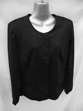 New Without Tags Ladies Sz 14 Smart Black Fully Lined Blazer Jacket