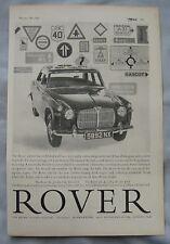 1960 Rover 3-litre Original advert No.1