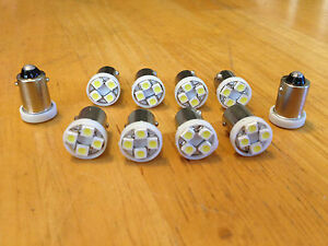 10 White Fits Studebaker BRIGHT 12V LED Instrument Panel Light Bulb Lamp 57 NOS