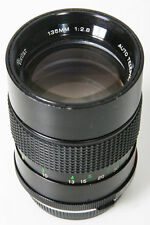 Vivitar Auto 135mm f/2.8. Olympus Manual Focus OM-mount Lens
