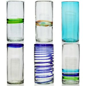 Hi-Ball Tall Glass - Hand Blown Recycled Glass - Ethically Sourced from Mexico