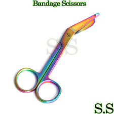 "1 Lister Bandage Nurse Scissors - 5.5"" Multi Titanium Color Rainbow"