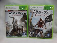 XBOX 360 ASSASSINS CREED III & IV