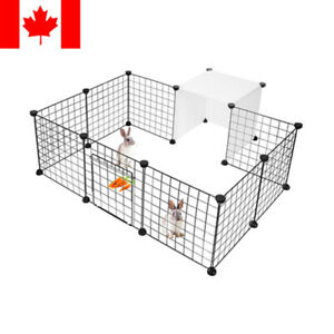 14-Panels Small Animals Dog Rabbit Pet Playpen Cage Metal Wire Yard Fence