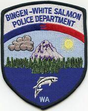 BINGEN WHITE SALMON WASHINGTON WA Jumping Fish POLICE PATCH