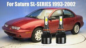 LED For Saturn SL SL1 SL2 1993-2002 Headlight Kit 9006 HB4 CREE Bulbs Low Beam
