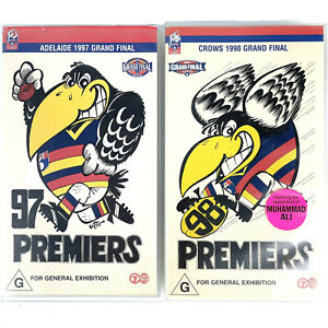 Adelaide Crows 97 & 98 Grand Final Football  Premiers VHS Tapes AFL