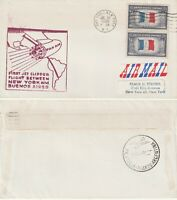 US 1959 PAN AM FAM 5 FIRST FLIGHT FLOWN COVER NEW YORK NY TO BUENOS AIRES ARGENT