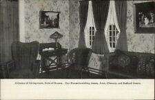 Boston MA Jordan Marsh Suite of Rooms Corner of Living Room Postcard