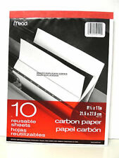Mead 40112 Carbon Paper Tablet- 10 Reusable Sheets - 8 1/2x11
