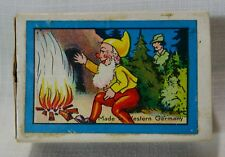 Western Germany Wood Block Fairytales Puzzles In Matchbox