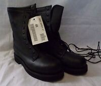 Addison Boots New 4 Regular Steel Toe Black Leather  Military DSCP New #113