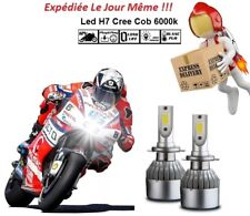 Kit ampoules Led Cree H7 6000K 72W Cob Moto Tuning Eclairage Xenon Bmw R1200GS