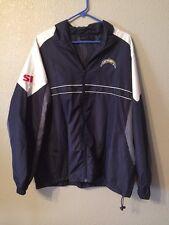 Dunbrooke SI San Diego Chargers Full-Zip Windbreaker Jacket Blue Adult XL EUC