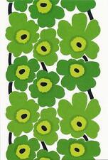 Postcard Maija Isola Marimekko Design: Unikko,1964 Green Flowers MINT