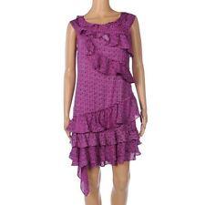 DKNY Dress Violet Purple Sleeveless Ruffle Tiers Size 10 / UK 14 FX 238