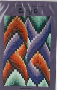 Curly Q - modern pieced bargello quilt PATTERN - Quilters Clinic