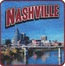 NASHVILLE Iron On Printed Patch Tennessee Country Music