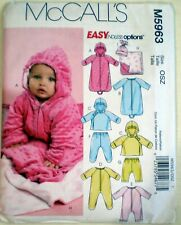 6888 SEWING PATTERN~UNCUT 1979~BABY//INFANT SZ 12#-15#~BUNTING/&JUMPSUIT+++