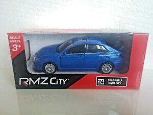 🚓 RMZ City SUBARU WRX STi 1:32 1:36 1:39 car scale model new in box blue