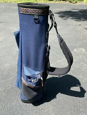 Vintage 34in Dunlop Fz-1 Golf Bag With Strap (nylon with rain cover) blue/white
