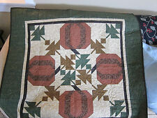 GORGEOUS Handmade Thimbleberries Finished Pumpkin Fall Quilted Quilt 50 x 50