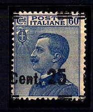 ITALIA - Regno - 1924 - 25 cent. su 60 cent. azzurro - sovr. I° tipo - varietà