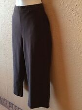 Women's L.L. Bean Stretch Crop Pants Small 27x20 Mid Rise Brown Casual/Athletic