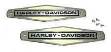 Harley Gas Tank EMBLEMS with SCREWS for 1966 - 1971 Shovel & Servi-Car