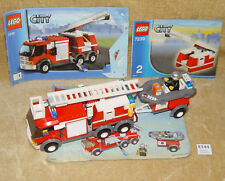 LEGO Sets: Town: City: 7239-1 Fire Truck (2004) 100% with 2 of 3 INSTRUCTIONS GC