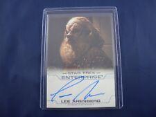 Star Trek Enterprise Autograph Card Lee Arenberg as Gral