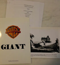 GIANT (1956) Press Kit Folder, Photos; 1996 Reissue; James Dean Elizabeth Taylor
