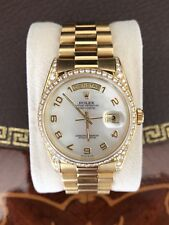 Rolex Day Date 18K 750er Gold Brillantlünette Automatik Diamanten