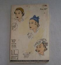 Vintage Womens Sewing Pattern Hat 30's DuBarry 1795