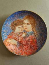 "Mother's Day Plate by Edna Hibel-""Erika & Jamie""-Knowles"