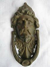 "New Antique Brass Finish Door Knocker Man Face 7.5"" (*Ships Free 2 Us!)"