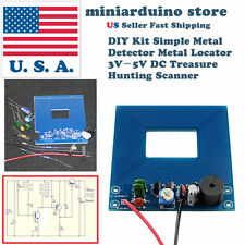 DIY Kit Simple Metal Detector Metal Locator 3V-5V DC Treasure Hunting Scanner US
