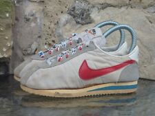 Vintage 1981 Kids Nike Nylon Cortez UK 1.5 OG Made In Taiwan Forest Gump 80s
