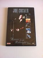 JOE COCKER - ACROSS FROM MIDNIGHT TOUR - DVD SPANISH EDITION - RARE!