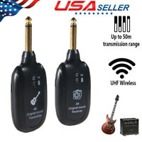 UHF Wireless Guitar System Transmitter Receiver w/Rechargeable Battery 20-20kHz