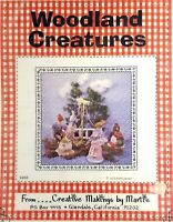 Craft Pattern Woodland Creatures Mouse Bunny Squirrel Bear New Vintage 1979 #203