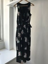 Banana Republic Womens Sleeveless Magnolia Floral Midi Wrap Dress, AU Size 10