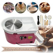 Electric Pottery Wheel Ceramic Machine 25CM Work Clay Art Craft DIY w/ Tools New