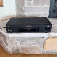 Working Sony SLV-N77 Flash Rewind 19 Micron 4-Head VCR VHS Player Recorder