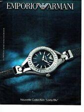 PUBLICITE ADVERTISING 027  2012   montre Emporio Armani  Lady Blu